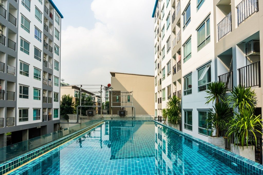 Condominium with pool