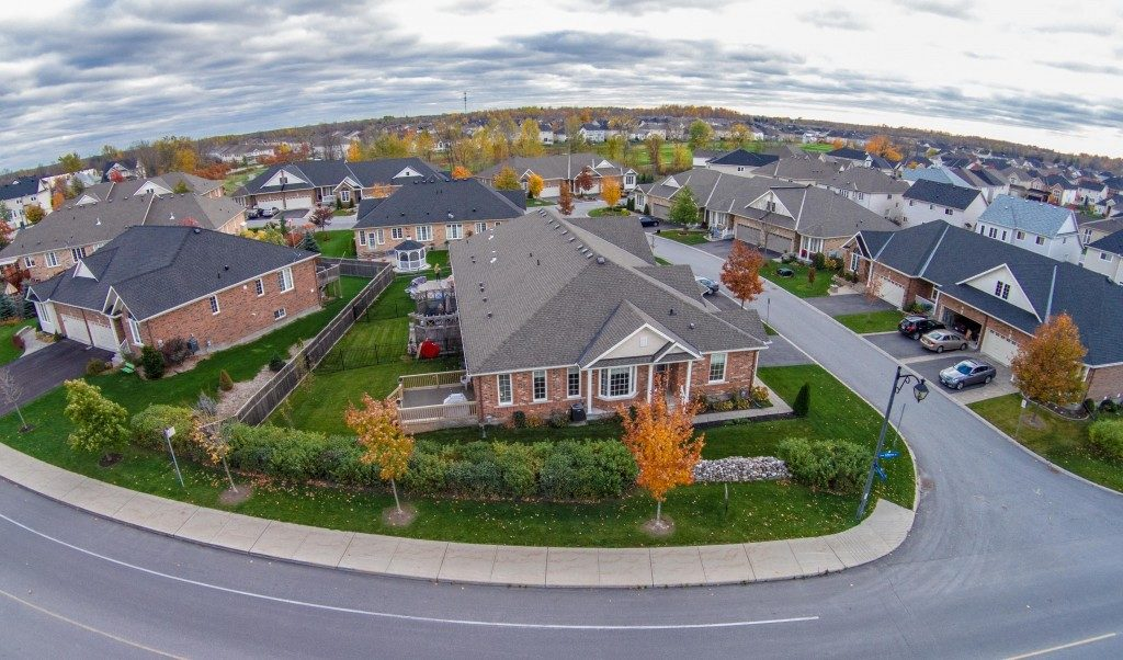 Aerial view of the subdivision