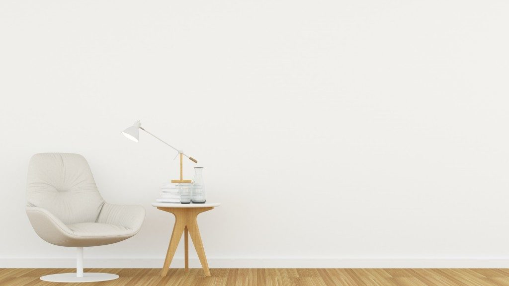 a minimalist living room