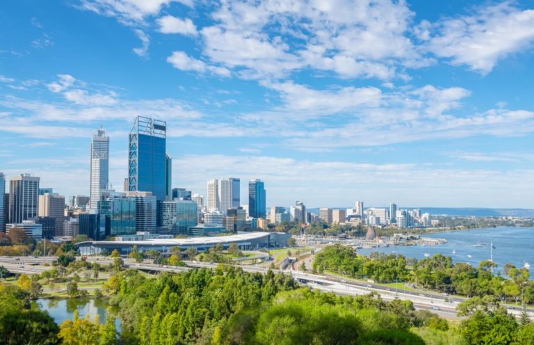 Perth city and coast