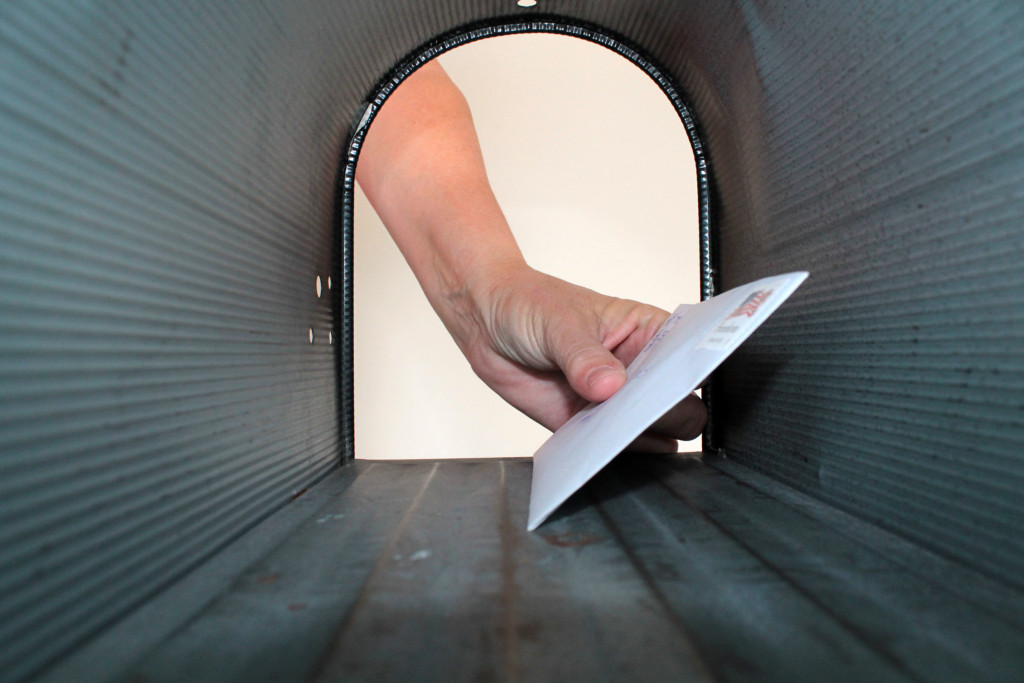 letter in a mailbox